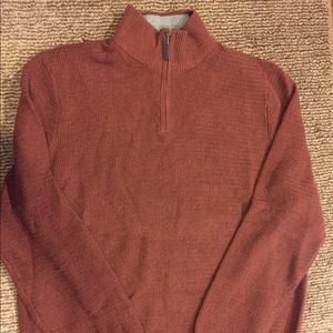 Rust Tasso Elba half zip sweater